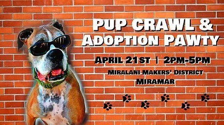PUPCRAWL & ADOPTION PARTY @ San Diego | California | United States